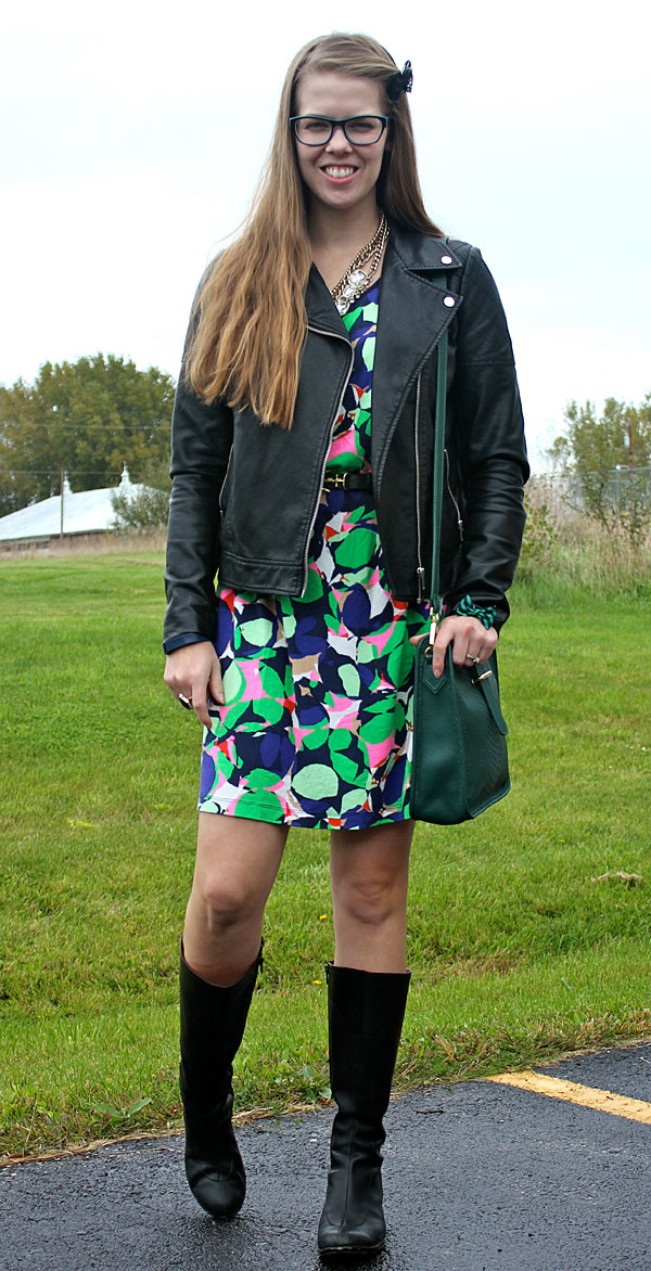 multicolor-dress-with-leather-jacket-3