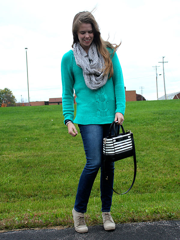 green-sweater-jeans