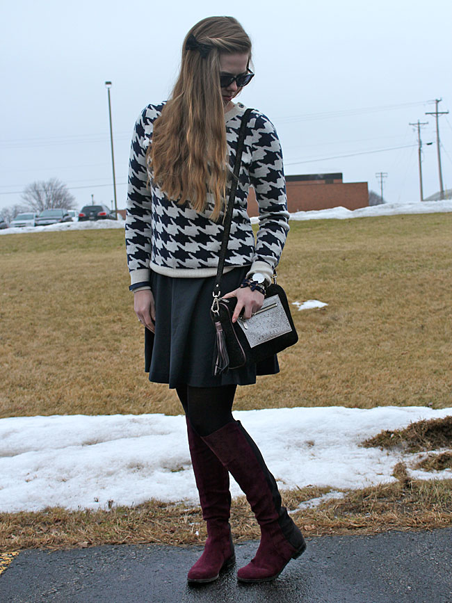 blue-Milly-dress-houndstooth-sweater-wine-boots2