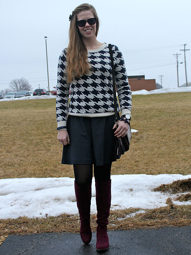 blue-Milly-dress-houndstooth-sweater-wine-boots3