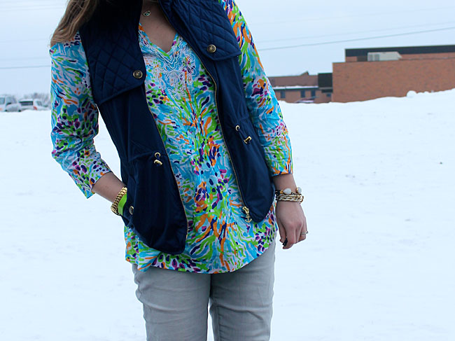 lilly-pulitzer-tunic-blue-vest-grey-jeans