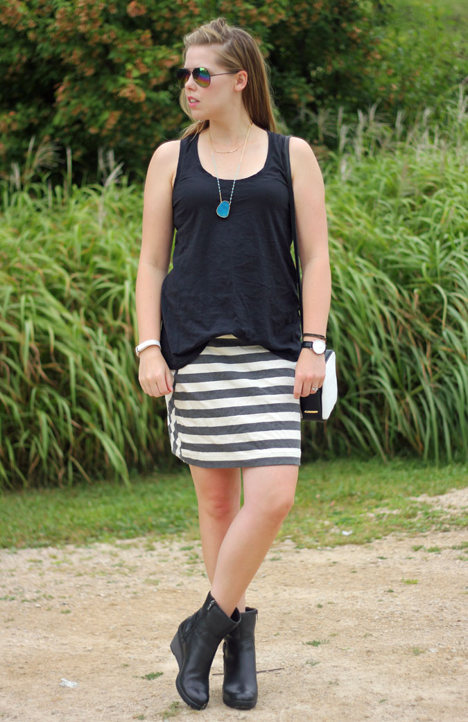 black-tank-grey-striped-skirt-black-moto-boots-2