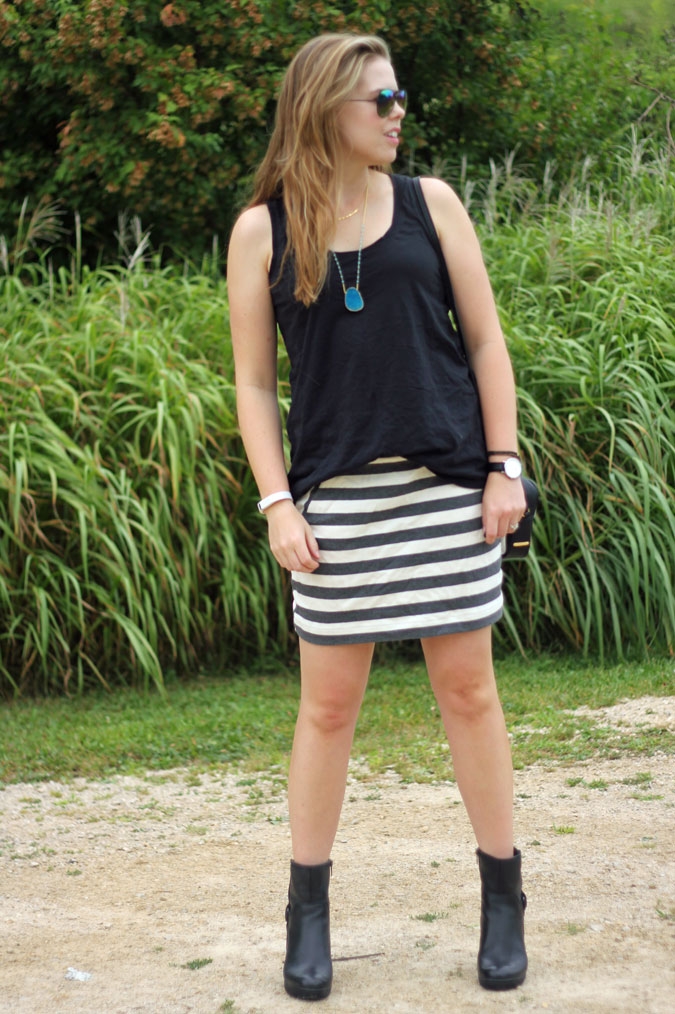 black-tank-grey-striped-skirt-black-moto-boots-3