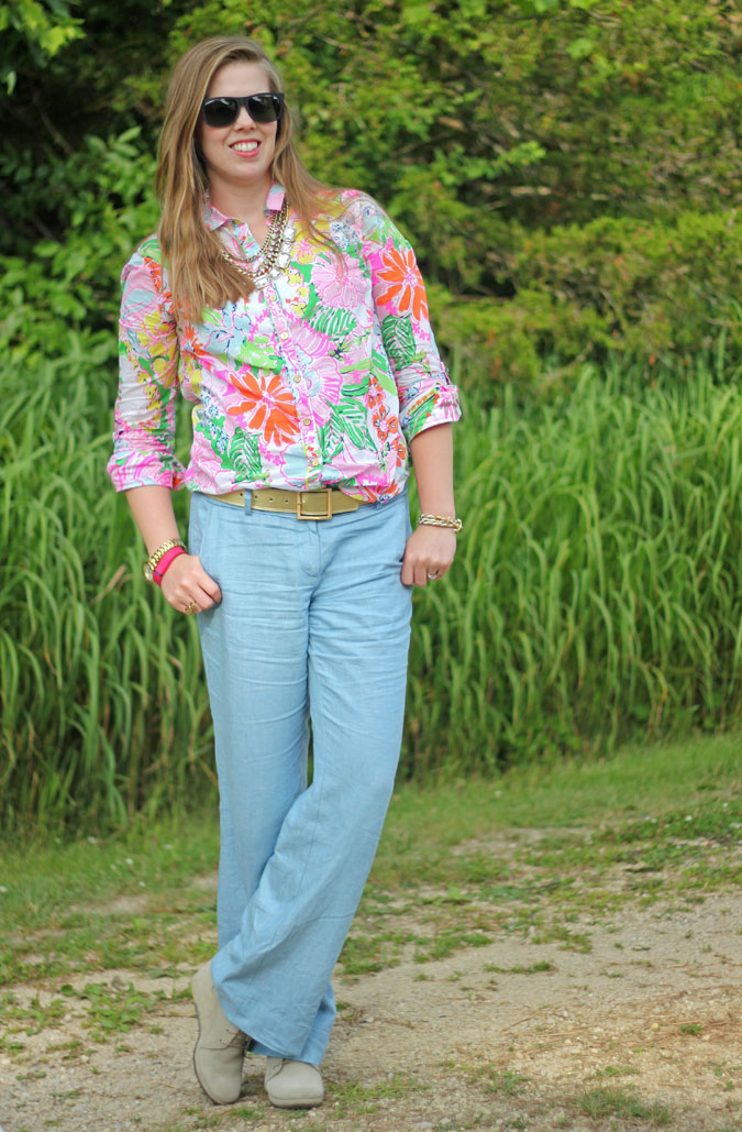 loft-chambray-pants-lilly-for-target-nosey-posie-button-up-2