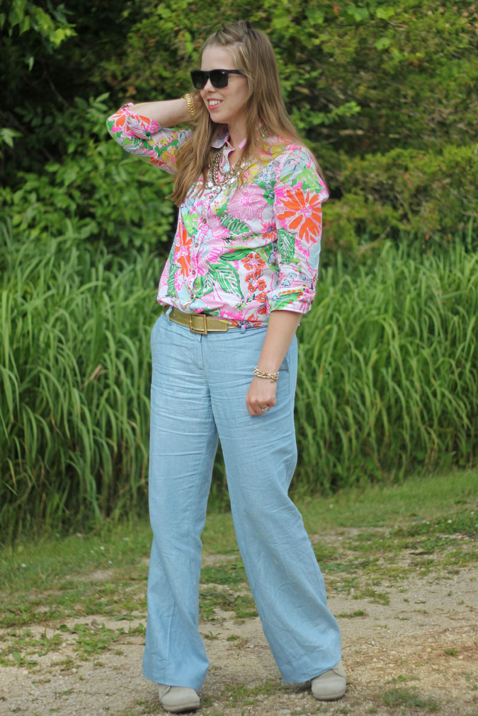 loft-chambray-pants-lilly-for-target-nosey-posie-button-up