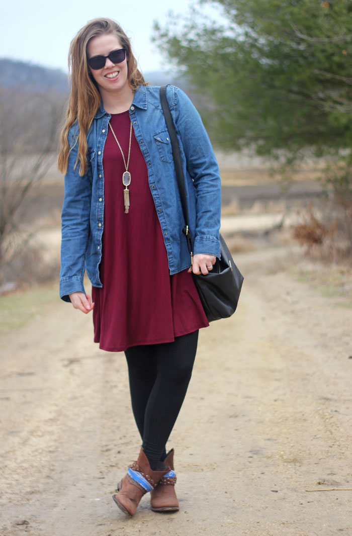 4 ways to wear chambray in summer: over a dress