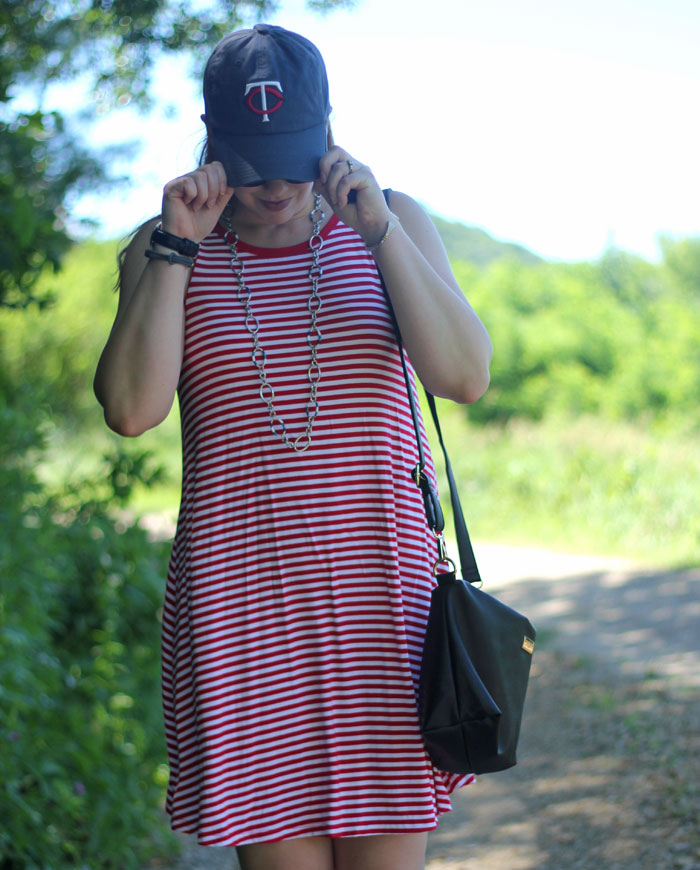 Create28: Super Stripes. What to wear to a baseball game or 4th of July
