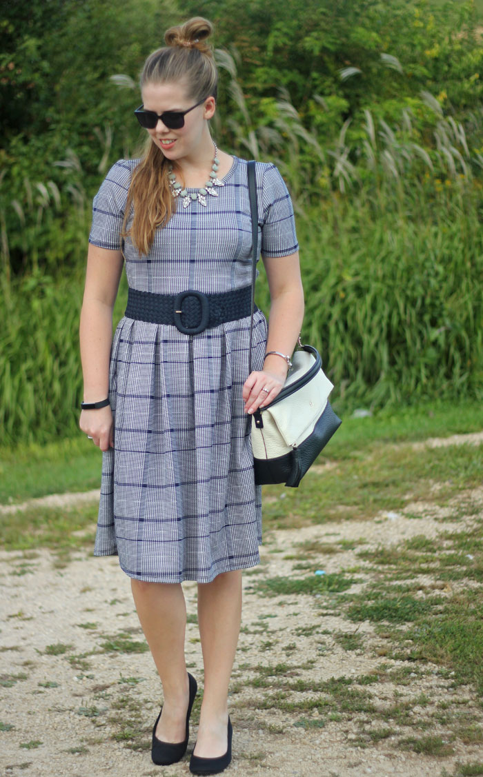 LuLaRoe Amelia dress is the perfect combination of fancy and comfort! | Puppies & Pretties