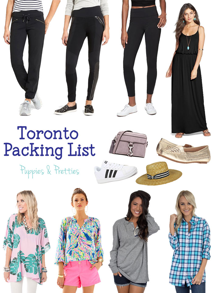 Toronto packing list | packing for Toronto in May | Packing for Toronto in spring | Puppies & Pretties