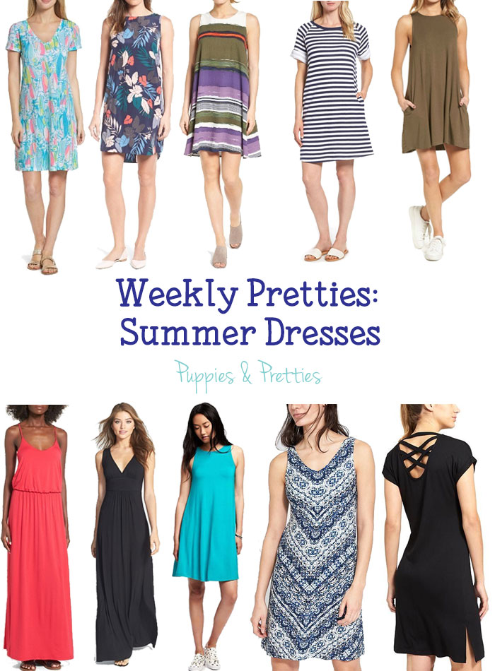Weekly Pretties: Summer Dresses   A dress is the perfect thing to wear in the summer. See 10 great options now!   Puppies & Pretties