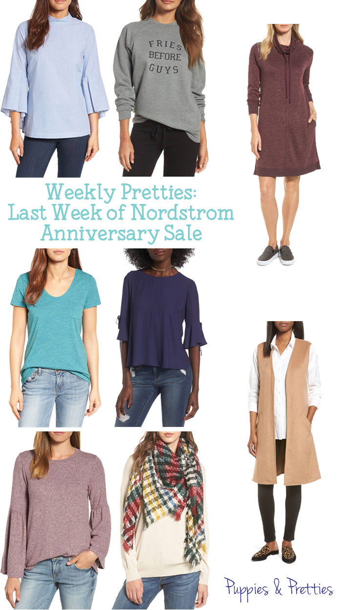 Weekly Pretties: Last week of the Nordstrom Anniversary Sale. There are still some great items available in the sale! Scoop them up now while there is still time.