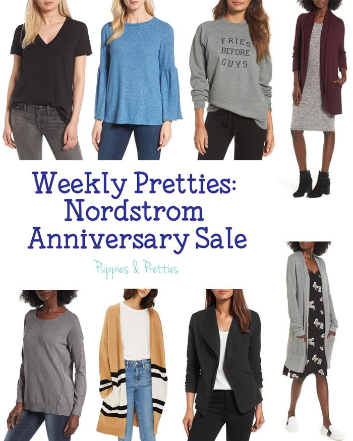 Weekly Pretties: Nordstrom Anniversary Sale. So many great fall items in the sale! Stock up on cardigans and jackets along with basics | Puppies & Pretties