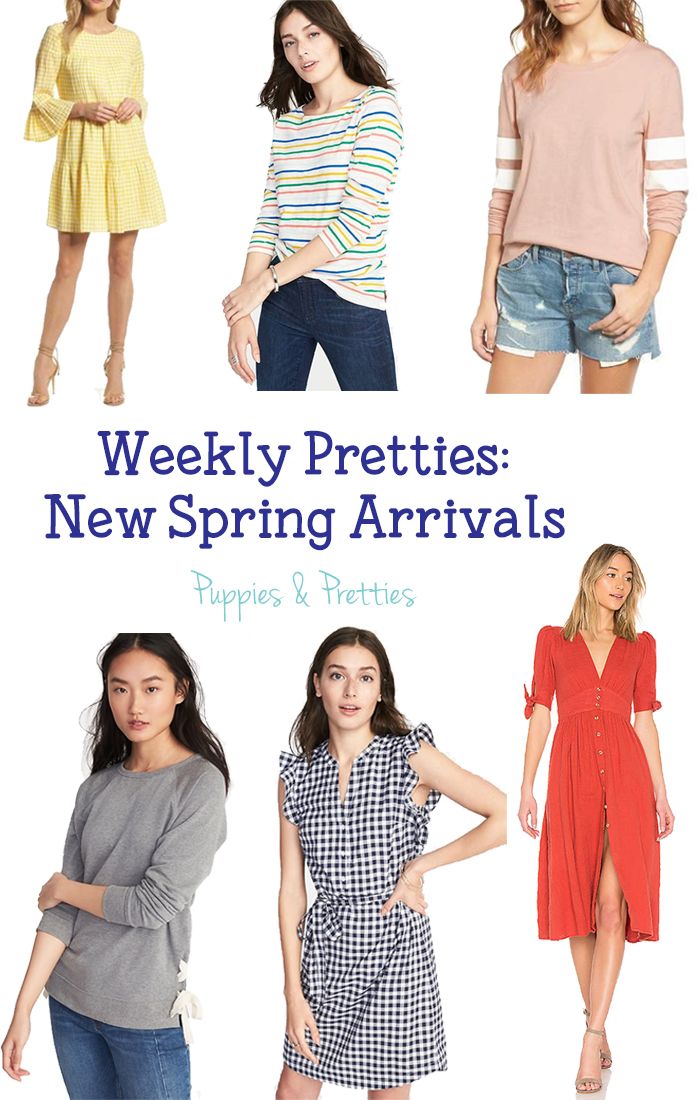 Weekly Pretties: New Spring Arrivals | What I really love about some of these items that you can wear them now, even when it is cold out still, but they will still transition perfectly into spring | Puppies & Pretties