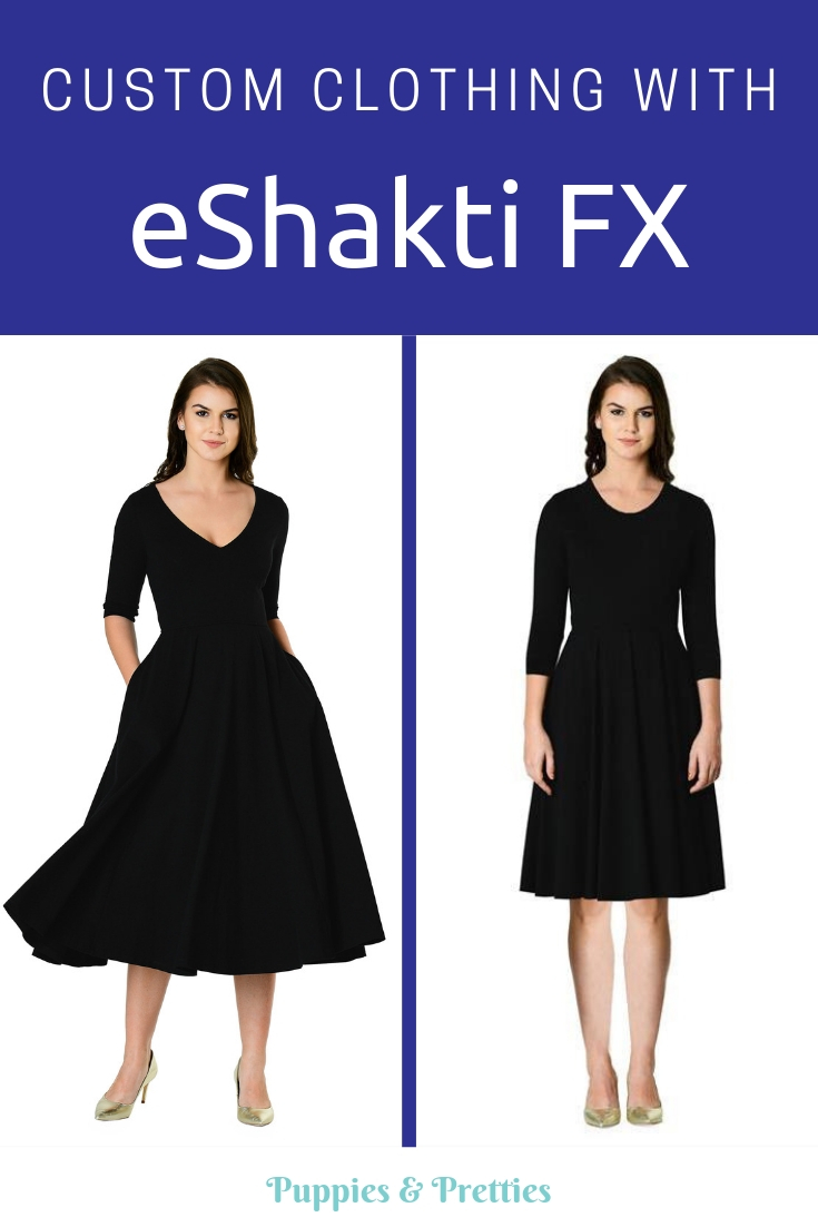 Custom clothing with eShaktiFX: New options are now available at eShakti to make an item truly for you.   Puppies & Pretties